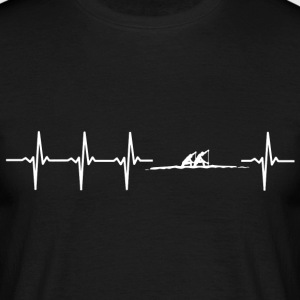 I love rowing (rowing heartbeat) - Men's T-Shirt