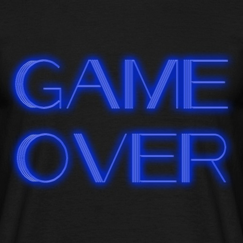 Game Over Neon - Männer T-Shirt