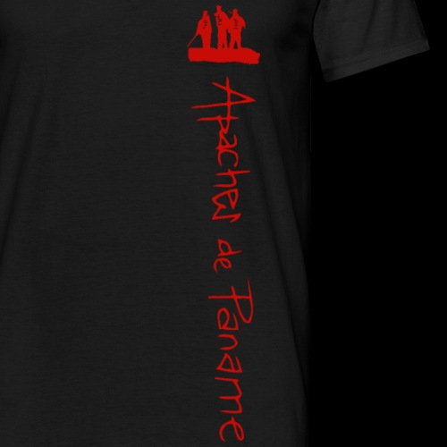 logo apaches vertical rouge - T-shirt Homme