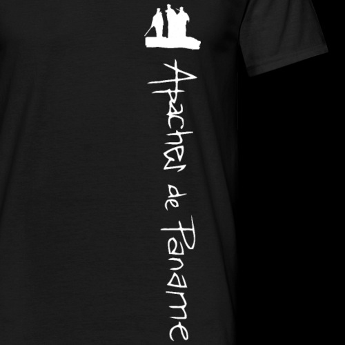 logo apaches vertical blanc - T-shirt Homme