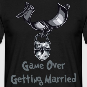 Game Over Getting Married - T-skjorte for menn