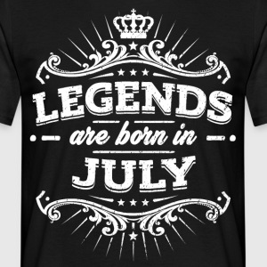 Legends are born in July - Männer T-Shirt