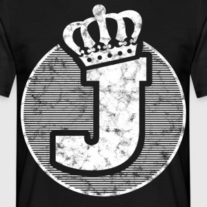Stylish letter J with crown - Men's T-Shirt