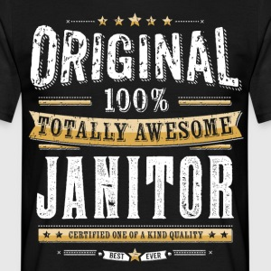 Originele 100% Awesome Janitor - Mannen T-shirt