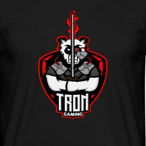 Tron Gaming Logo Transparent - Men's T-Shirt