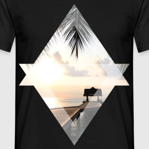 Jetty in paradise - Men's T-Shirt