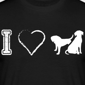I love dog dogs Dog Dogs - Men's T-Shirt