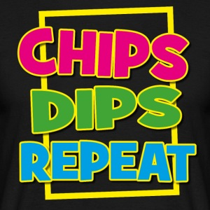 CHIPS DIPS REPEAT FYLL - T-shirt herr