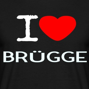 I LOVE BRUEGGE - T-skjorte for menn