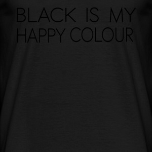 black_is_my_happy_color - T-shirt herr