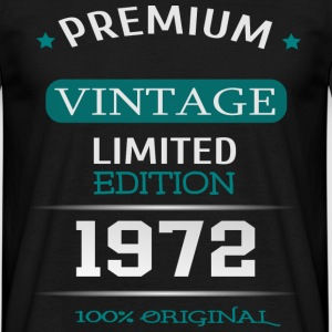Premium Vintage Limited Edition 1972 100% Original - Männer T-Shirt