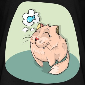 Comic Manga Cat Kitty Mitz kitten lief meow - Mannen T-shirt