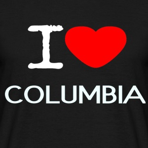 I LOVE COLUMBIA - Men's T-Shirt