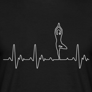 Heart of Yoga - Mannen T-shirt