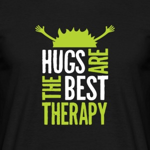 Hugs are the best therapy! Einfach umarmen! - Männer T-Shirt