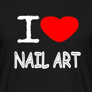 I LOVE NAIL ART - Men's T-Shirt