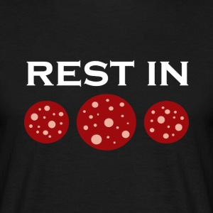 Rest in pepperoni - Herre-T-shirt