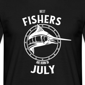 Present for fishers born in July - Men's T-Shirt