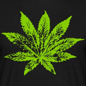 078 cannabis leaf - Men's T-Shirt