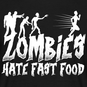 Zombies Zombie Fast Food lusitg - T-skjorte for menn
