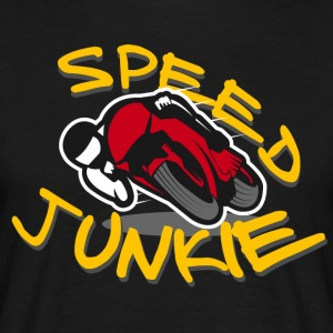 SPEED JUNKIE - motorsykkel racer ROAD RACING - T-skjorte for menn