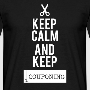 Couponing / gaver: Keep Calm at holde Couponing - Herre-T-shirt