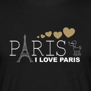 I LOVE PARIS - T-skjorte for menn
