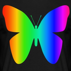 Rainbow Butterfly - Herre-T-shirt