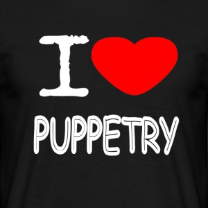 I LOVE PUPPETRY - Männer T-Shirt