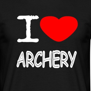 I LOVE ARCHERY - Männer T-Shirt