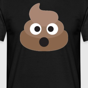 Poo Emoji Face! Retro Design! - T-skjorte for menn