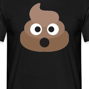 Poo Emoji Face! Retro Design! - T-shirt Homme