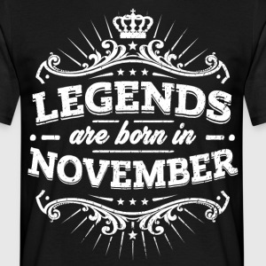Legends er født i november - Herre-T-shirt