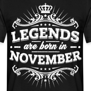 Legends are born in November - Men's T-Shirt