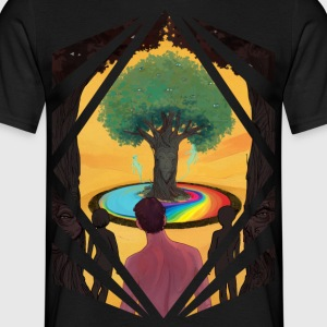Traveller at the Tree of Creativity - Men's T-Shirt