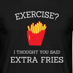 Extra fries wit - Mannen T-shirt