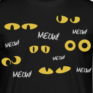 SIMPLES ridicule Katzentshirt. Meow Meow Meow - T-shirt Homme