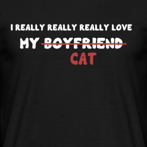 I love my cat - Men's T-Shirt