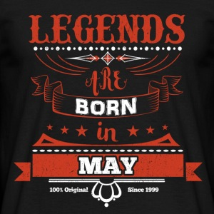 Legends are born in May birthday gift - Men's T-Shirt