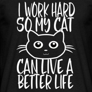 CAT WORK HARD - Männer T-Shirt