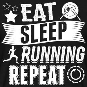 kører EAT SLEEP Runner - Herre-T-shirt