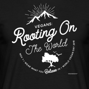 Veganisten: Beworteling On The World - Mannen T-shirt
