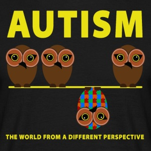 Autism the world from a different perspective - Men's T-Shirt