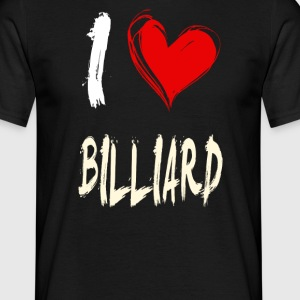 I Love Billiards - Men's T-Shirt