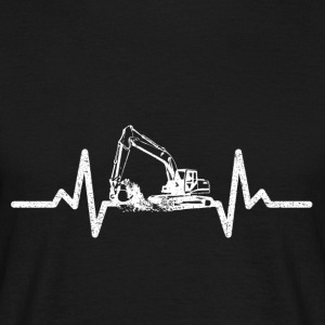 My heart beats for excavators! - Men's T-Shirt