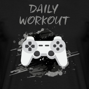 Video Game! Daily Workout! - Mannen T-shirt