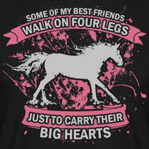 Heart for horses - Men's T-Shirt