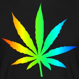 Marijuana Leaf Rainbow - Herre-T-shirt