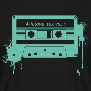 RETRO CASSETTE in turquoise - Men's T-Shirt