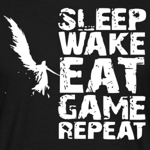Sleep Wake Eet Game Repeat - Mannen T-shirt